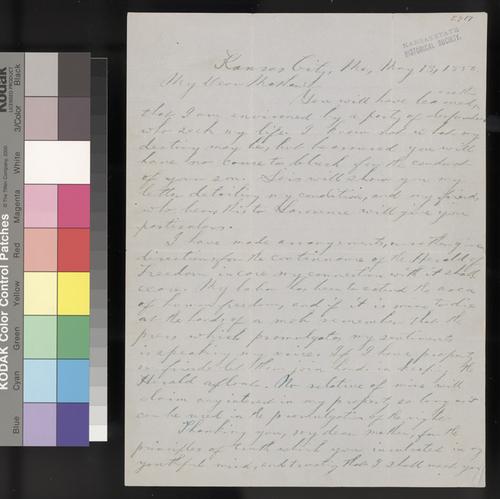 George W. Brown to Sarah H. Brown - Page