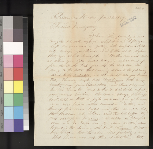 William Hutchinson to James Montgomery - Page