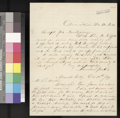 Leander Martin to James Montgomery - Page