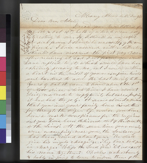 G. S. Lewis to Samuel L. Adair - Page