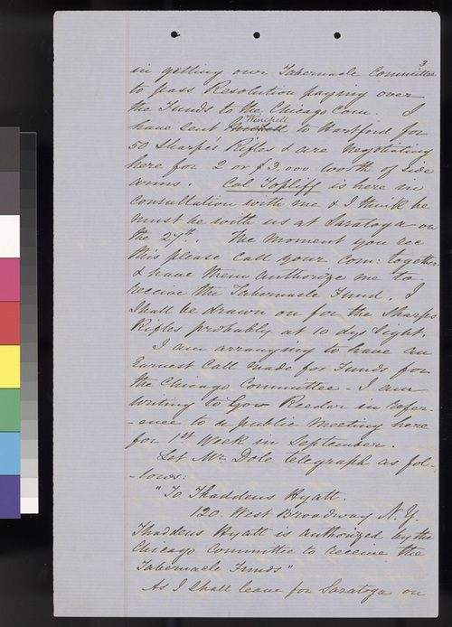 Thaddeus Hyatt letters - Page