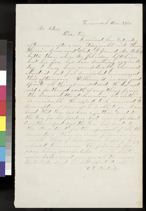 E. L. Partridge to Samuel L. Adair - Page