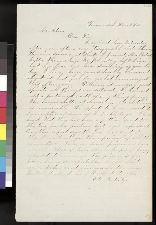 E. L. Partridge to Samuel L. Adair - Page