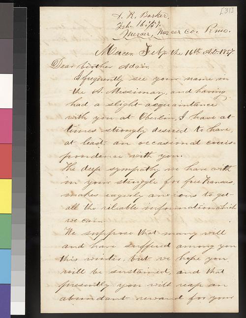 D. R. Barker to Samuel L. Adair - Page