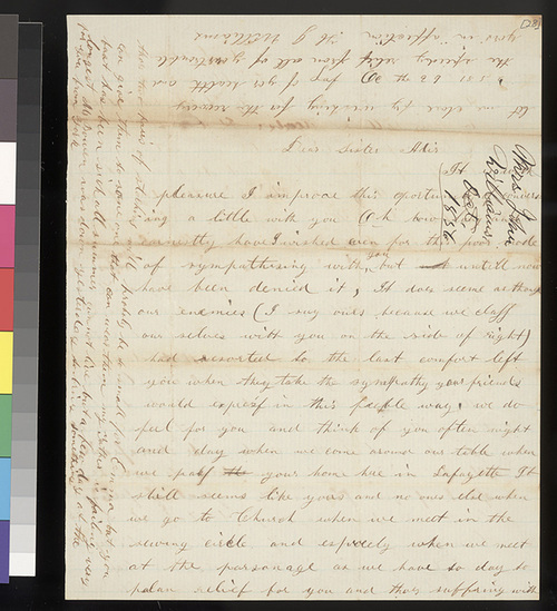 H. J. Williams to Florella Brown Adair - Page