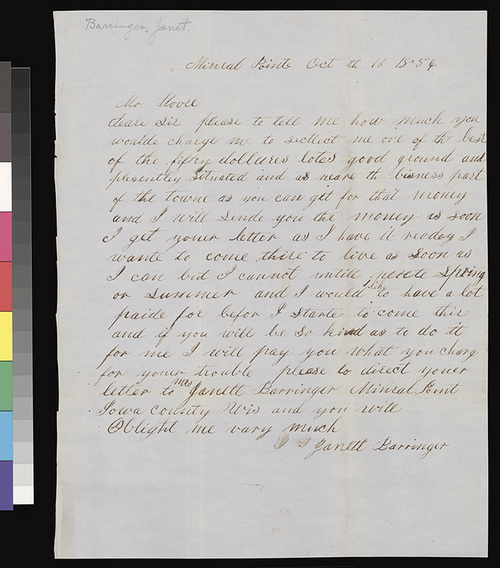 Janett Barringer to Henry Miles Moore - Page