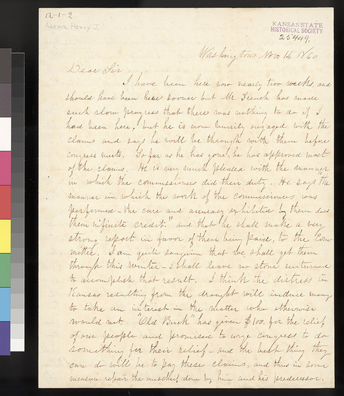 Henry Adams to William Hutchinson - Page