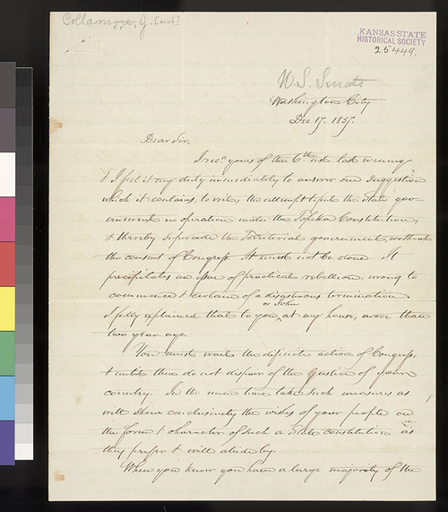 Jacob Collamer to William Hutchinson - Page