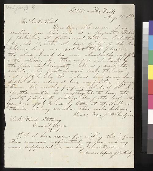 J. B. Hodgin to Samuel N. Wood - Page