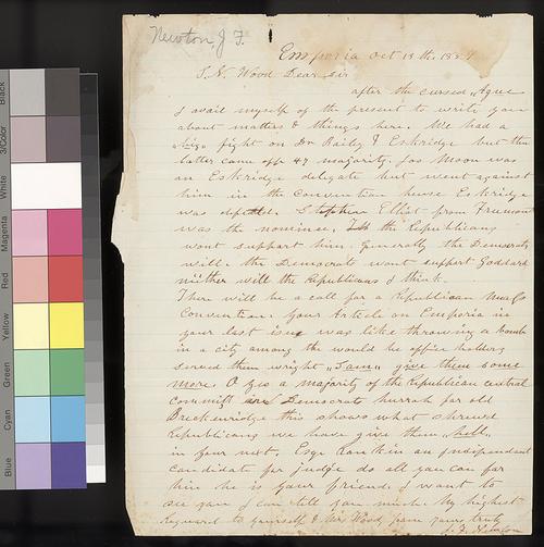 J. F. Newton to Samuel N. Wood - Page