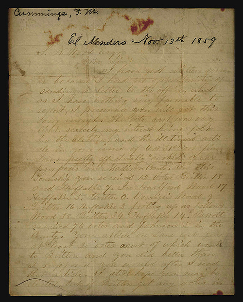 F. M. Cummins to Samuel N. Wood - Page