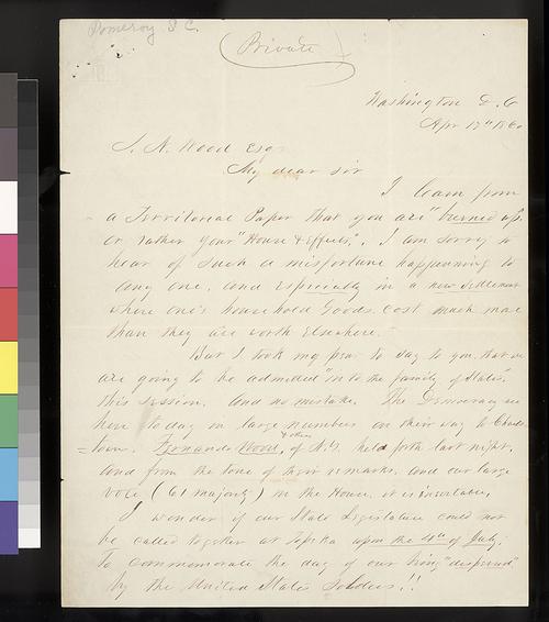 Samuel C. Pomeroy to Samuel N. Wood - Page
