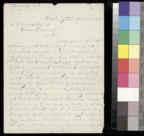 Robert S. Stevens to Samuel N. Wood - Page