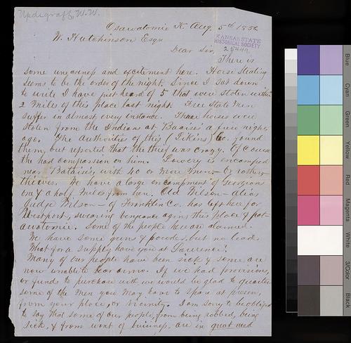 W. W. Updegraff to William Hutchinson - Page