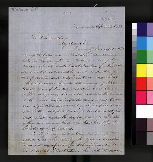 Edmund B. Whitman to George L. Stearns - Page
