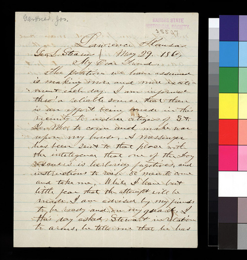 Joseph Gardner to George L. Stearns - Page