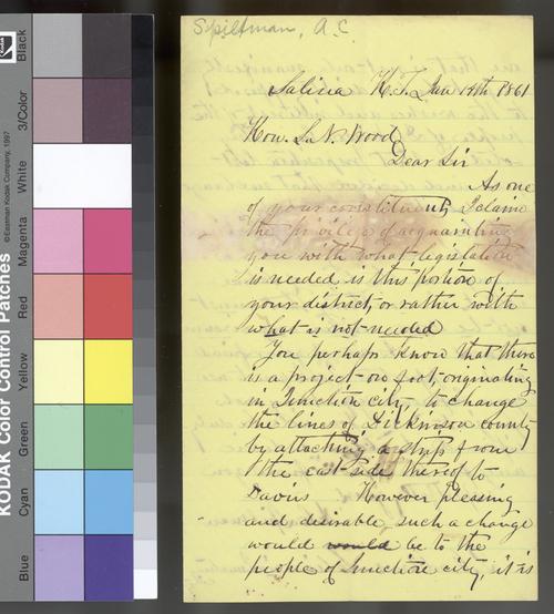 Alexander C. Spilman to Samuel N. Wood - Page