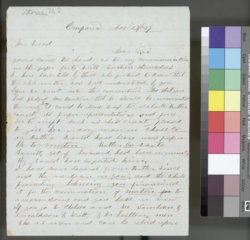 N. S. Storrs to Samuel N. Wood - Page