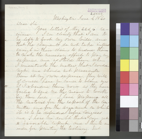 Henry J. Adams to William Hutchinson - Page