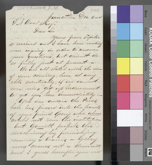 J. B. Woodward to Samuel N. Wood - Page
