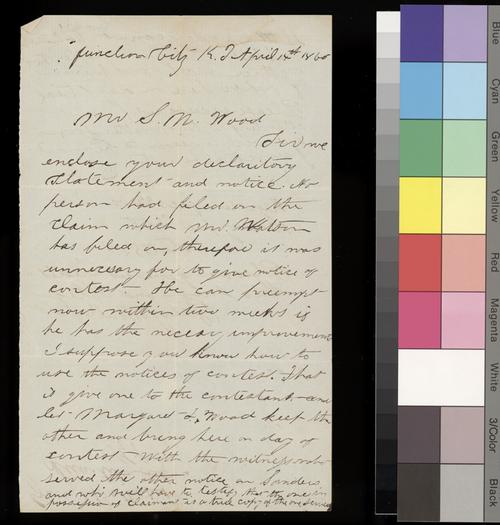 Geery & Butterfield to Samuel N. Wood - Page