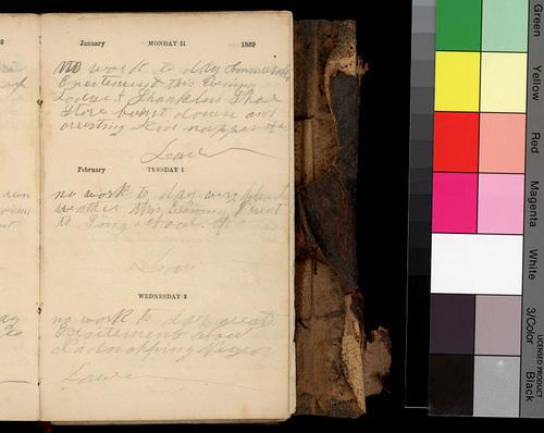 Willard O. Hubbell's diary, 1859 - Page