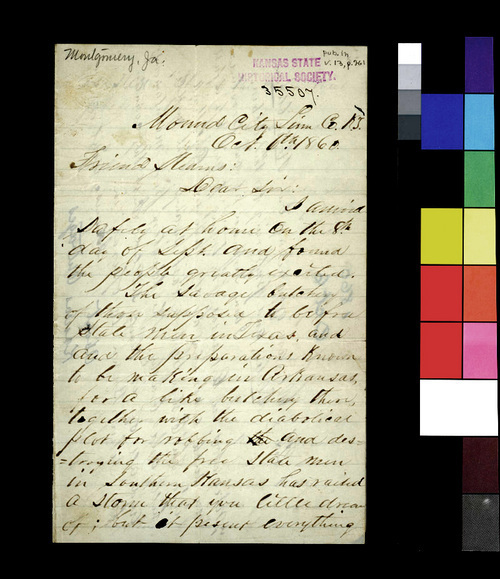 James Montgomery to George L. Stearns - Page
