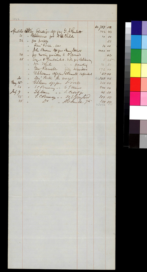 Receipts and Expenditures, State Kansas Committee - Page