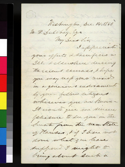 Lyman Trumbull to M. W. Delahay - Page