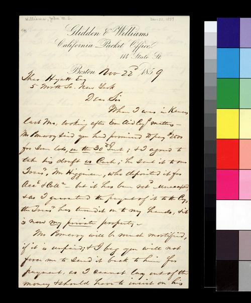 John M. S. Williams to Theodore Hyatt - Page