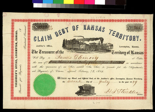 Claim Debt of Kansas Territory - Page