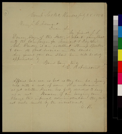 Charles Robinson to J. C. Fremont - Page