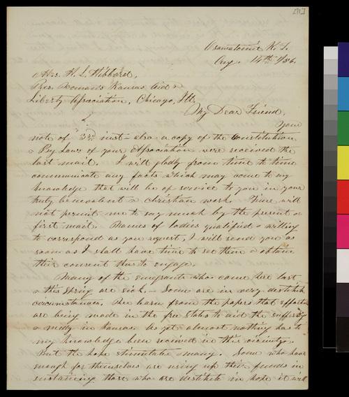 Samuel L. Adair to Mrs. H. L. Hibbard - Page
