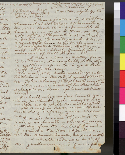 Thomas Webb to J. S. Emery - Page