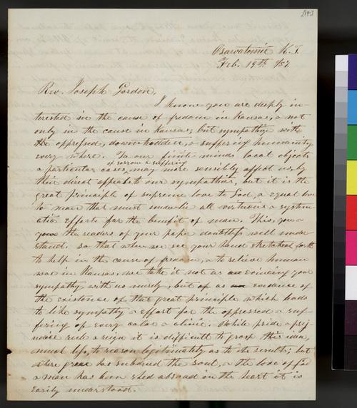 Samuel L. Adair to Joseph Gordon - Page