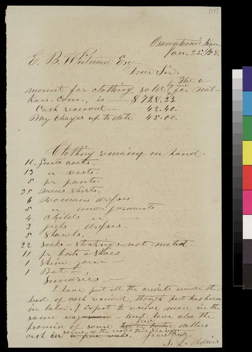 Samuel L. Adair to Edmund Burke Whitman - Page