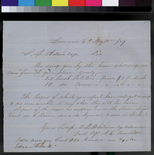 E. B. Whitman to Samuel L. Adair - Page
