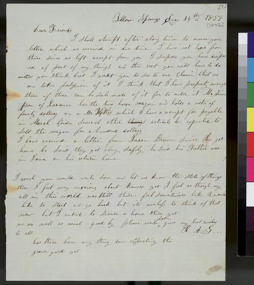 Rachel Garrison to Samuel L. Adair - Page
