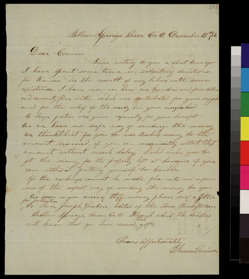 James Garrison to Samuel L. Adair - Page