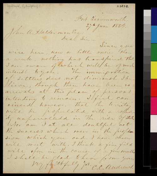 Christopher C. Andrews to John A. Halderman - Page