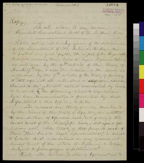 Wyandotte Float instructions, Kansas Territory - Page