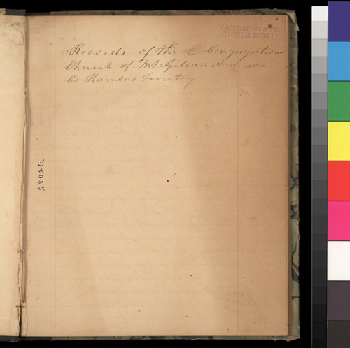 Mt. Gilead Congregational Church records, Anderson County, Kansas Territory, 1859-1860 - Page