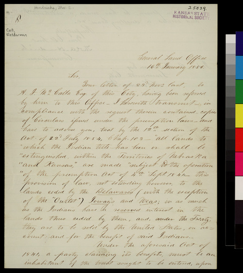 Thomas A. Hendricks to John A. Halderman - Page