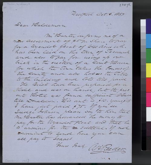Andrew H. Reeder to John A. Halderman - Page