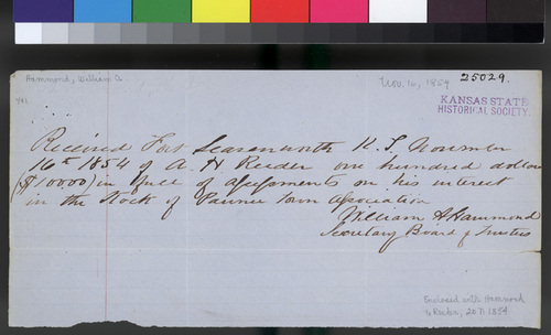 William A. Hammond to Andrew H. Reeder - Page