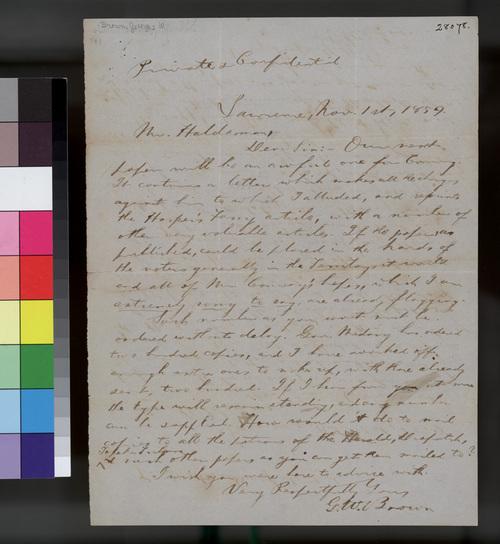 George W. Brown to John Halderman - Page