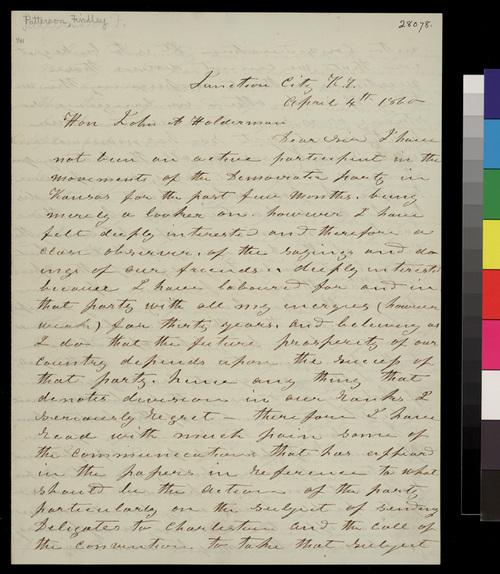 Findley Patterson to John A. Halderman - Page