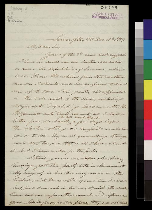 Samuel Medary to John A. Halderman - Page