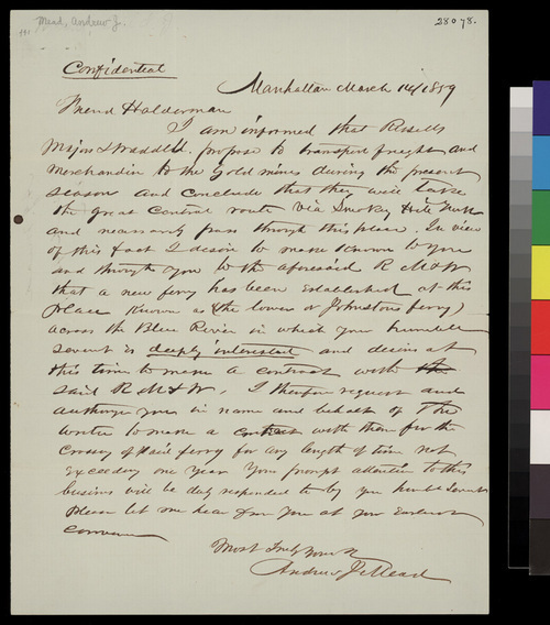 Andrew J. Mead to John A. Halderman - Page