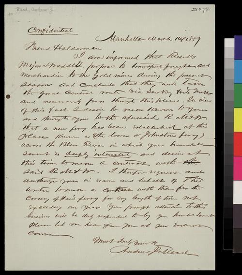Andrew J. Mead to John A. Halderman - Page